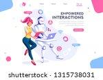 flat cyborg idea  interactive... | Shutterstock .eps vector #1315738031
