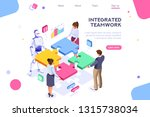 flat cyborg idea  interactive... | Shutterstock .eps vector #1315738034