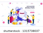 flat cyborg idea  interactive... | Shutterstock .eps vector #1315738037
