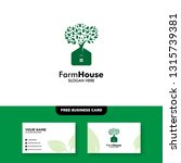 farm house logo  vector logo... | Shutterstock .eps vector #1315739381
