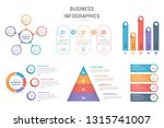 six infographic templates for...   Shutterstock .eps vector #1315741007