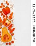 orange vegetables on white... | Shutterstock . vector #1315741451