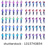 isometric set of movements and... | Shutterstock .eps vector #1315743854