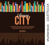 book in library illustration... | Shutterstock .eps vector #1315751114