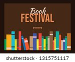 book in library illustration... | Shutterstock .eps vector #1315751117
