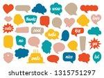 colorful speech bubble set in...   Shutterstock . vector #1315751297