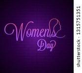 purple calligraphic text women... | Shutterstock .eps vector #1315751351