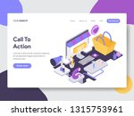 landing page template of call... | Shutterstock .eps vector #1315753961