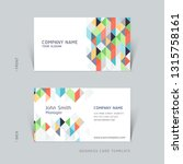 business card abstract... | Shutterstock .eps vector #1315758161