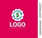 money transfer logo concept ...
