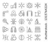 vector set of chemical... | Shutterstock .eps vector #1315764224