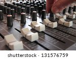 Professional Music Mixing Studio - stock photo