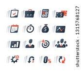 business loan  finance icon set ... | Shutterstock .eps vector #1315768127