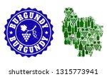 vector collage of wine map of... | Shutterstock .eps vector #1315773941