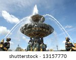 Famous fountain in Paris - stock photo
