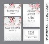 wedding invitation set.... | Shutterstock .eps vector #1315782584