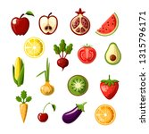 healthy food colored flat icon... | Shutterstock .eps vector #1315796171
