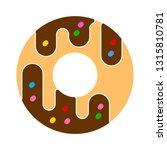 doughnut icon   cake or dessert ... | Shutterstock .eps vector #1315810781