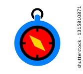 vector compass icon  ... | Shutterstock .eps vector #1315810871
