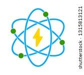 vector atomic icon | Shutterstock .eps vector #1315813121
