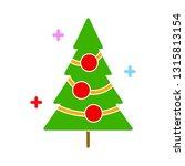 vector christmas tree... | Shutterstock .eps vector #1315813154