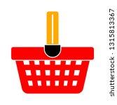 vector shopping basket... | Shutterstock .eps vector #1315813367
