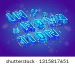 innovation 3d neon isometric... | Shutterstock .eps vector #1315817651
