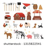 farm set. collection of... | Shutterstock .eps vector #1315822541