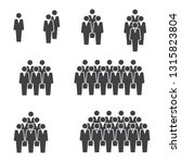 people crowd group icon on... | Shutterstock .eps vector #1315823804