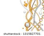 card with golden chains.... | Shutterstock .eps vector #1315827701