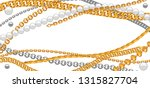 card with golden chains.... | Shutterstock .eps vector #1315827704