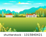 rural valley farm countryside.... | Shutterstock .eps vector #1315840421