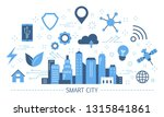 smart city concept. idea of... | Shutterstock .eps vector #1315841861