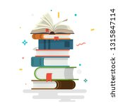 books. knowledge  learning and... | Shutterstock .eps vector #1315847114