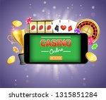 mobile gambling vector poster... | Shutterstock .eps vector #1315851284
