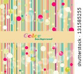 striped color background with... | Shutterstock .eps vector #131585255