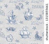 old caravel  vintage sailboat ...   Shutterstock .eps vector #1315855661