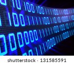 3d illustration of binary... | Shutterstock . vector #131585591