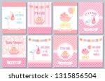 baby shower card. vector. baby... | Shutterstock .eps vector #1315856504