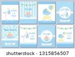 baby shower invitation card.... | Shutterstock .eps vector #1315856507