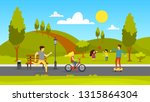 people in the public park.... | Shutterstock .eps vector #1315864304