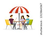 people sitting in cafe and... | Shutterstock .eps vector #1315864367