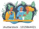vector cartoon illustration of... | Shutterstock .eps vector #1315864421