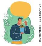 vector cartoon illustration of... | Shutterstock .eps vector #1315864424