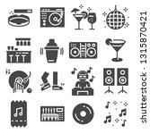 disco club or night club icons... | Shutterstock .eps vector #1315870421
