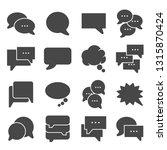 speech bubble icons on white... | Shutterstock .eps vector #1315870424