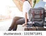 traveler is waiting for the...   Shutterstock . vector #1315871891