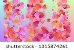 love background. heart confetti ... | Shutterstock .eps vector #1315874261