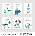 set of 6 cute creative cards... | Shutterstock .eps vector #1315877504