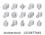 database related line icon set. ...